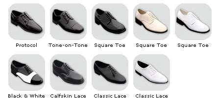 Shoes - Suits - See Frank's for all your formal wear needs. Franks Formal Wear, rents, sells, and custom tailors formal wear for men and women of all shapes and sizes. Located in Tampa, Florida.